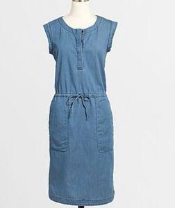 J.CREW - Draped Chambray Dress